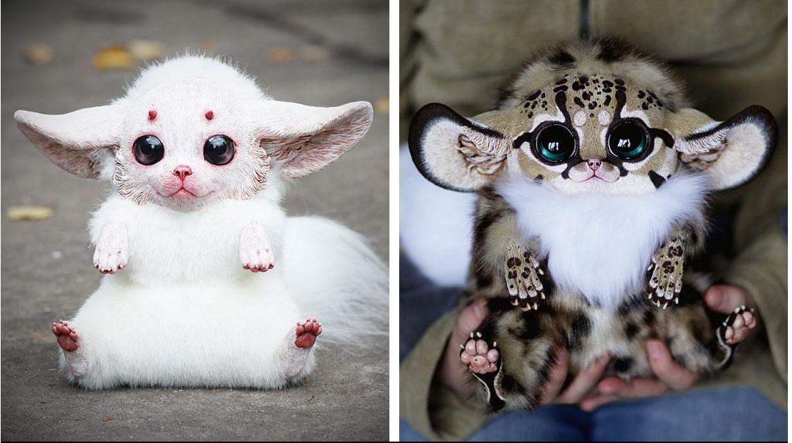 Симпатичные кукольные монстрики, созданные художницей Santaniel