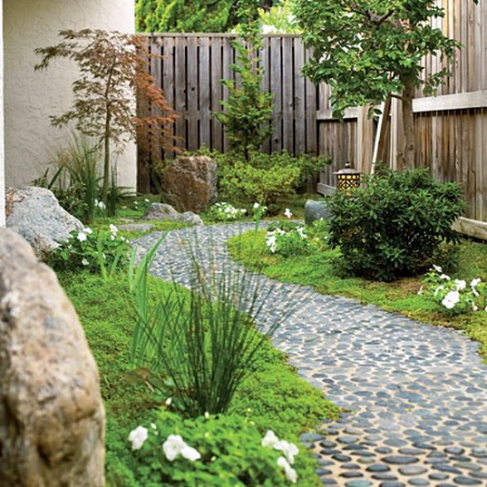Jeffrey Bale Pebble Mosaic path  Garden DIY  Jardines
