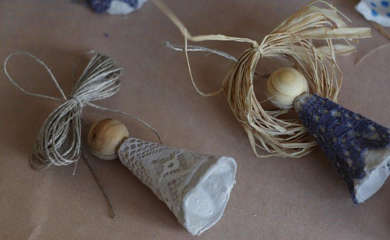 Ангелы из яичной упаковки к светлому празднику Пасха