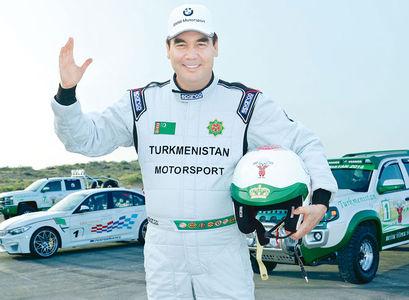 Президент Туркмении победил в ралли настоящего гонщика