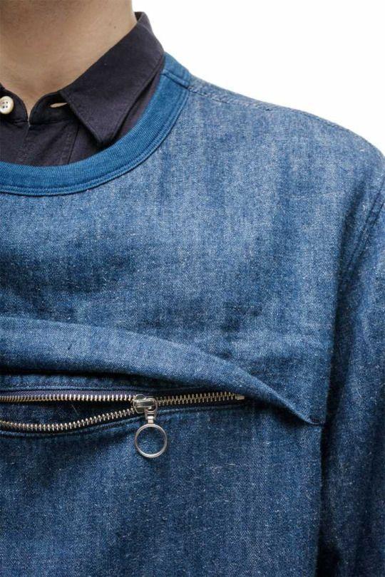 Джинсовые блузки детали