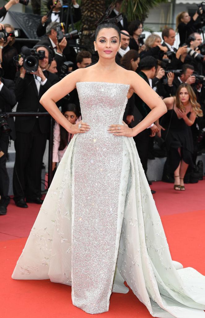 Айшвария Рай в элегантном белом платье