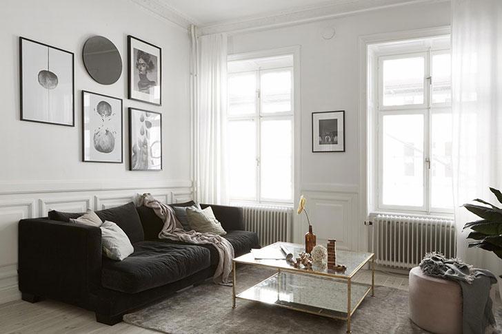 Прекрасный скандинавский минимализм: квартира в Стокгольме (73 кв. м)