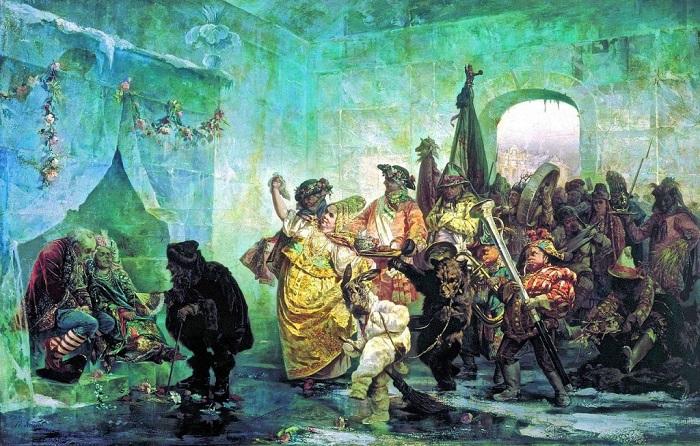 Свадьба в Ледяном доме. В. Якоби, 1878 год. | Фото: itd3.mycdn.me.