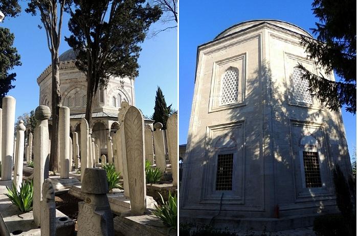 Примерно 5 столетий супруги покоятся с миром в соседних тюрбе в Стамбуле. Справа тюрбе Сулеймана, слева - Хюррем-султан.