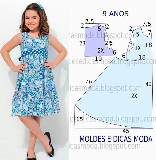 Как шить платья для девочек своими руками