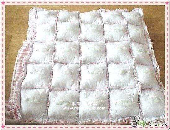 Одеяло из маленьких подушечек своими руками фото