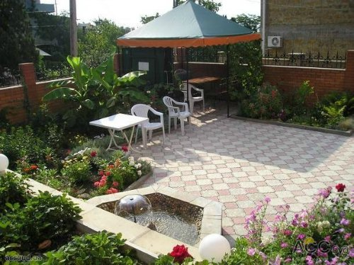 Как сделать красивый двор в частном доме своими руками фото