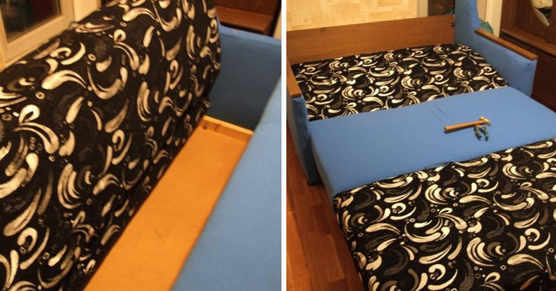 переделка мебели обоями