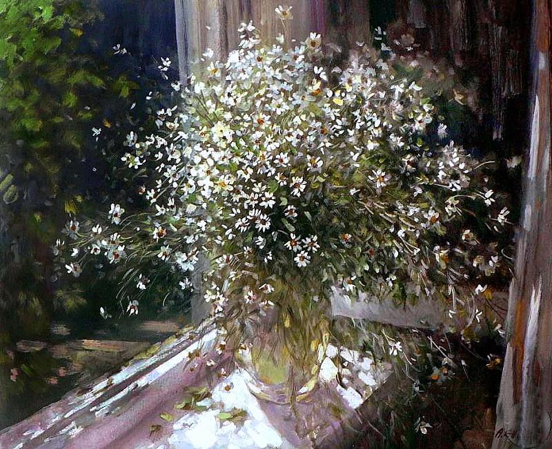 «На людей доверчиво глядят все цветы…» Художник Александр Ень