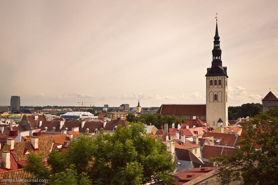 Таллин, Эстония, Старый город, Вышгород, церковь Святого Николая