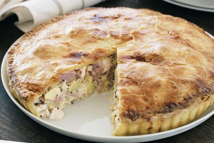 Пирог из курицы с картофелем пошаговый рецепт