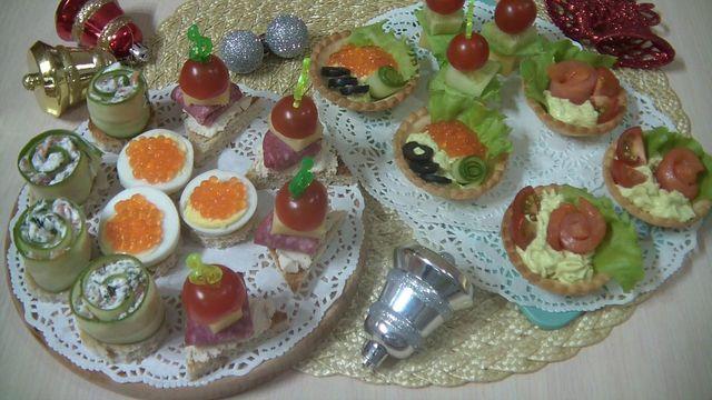 Фото к рецепту: Фуршетные закуски на праздничный стол. 6 вариантов.