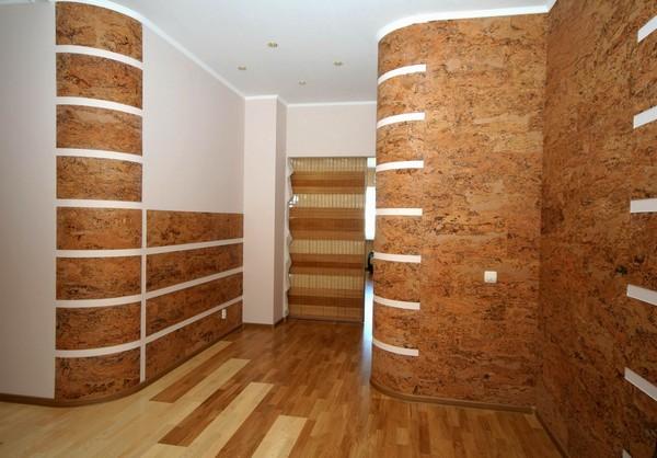 Пробковые панели для стен в коридоре фото