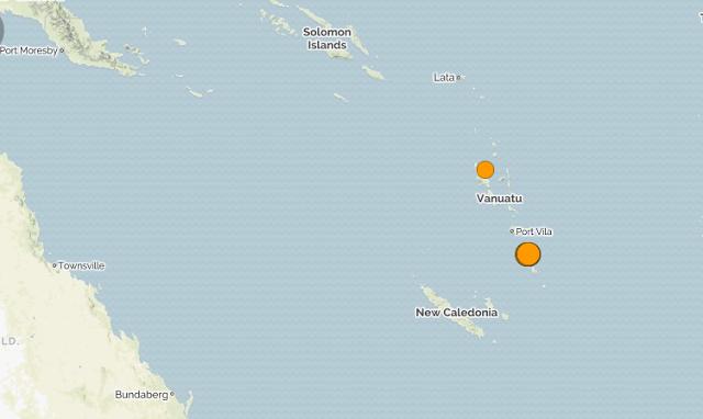 Вануату. Глубинное землетрясение магнитудой 6.5