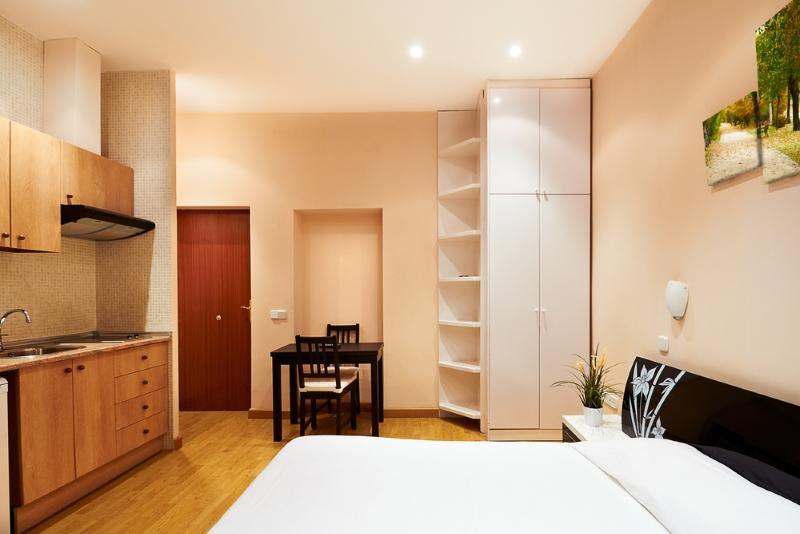 маленькая квартира-студия интерьер
