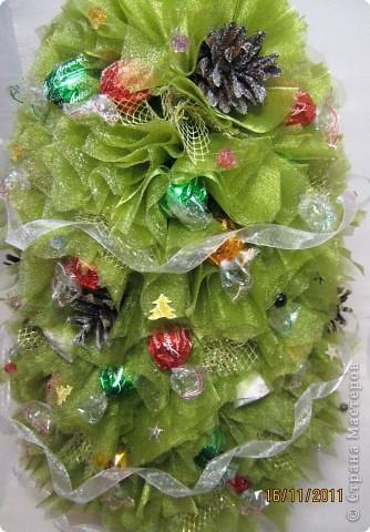 Мастер-класс, Свит-дизайн: МК елочки из конфет Новый год. Фото 36