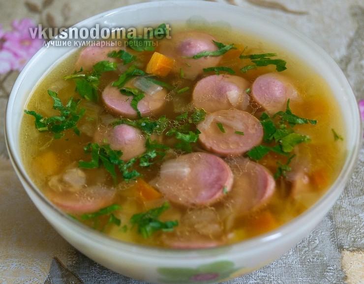 Суп с картофелем и сосисками