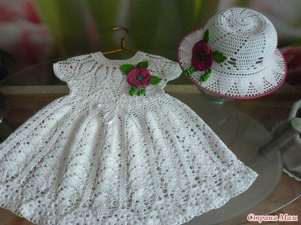 Страна мам вязание крючком платьев для девочек