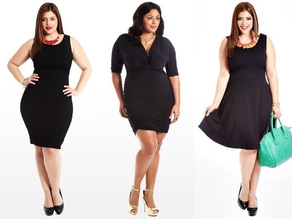 Разбираем удачные и неудачные варианты чёрного платья для полной фигуры