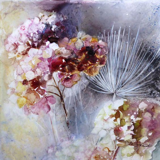 Закон звезды и формула цветка... Французская художница Roselyne Farail