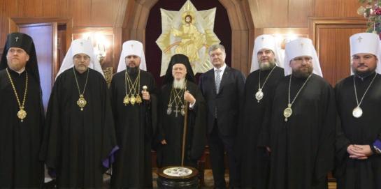 Варфоломей передал лже-томос главарю новой лже-церкви Украины