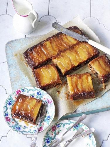 """Постная выпечка. Пирог с яблоками рецепт """"перевернутый"""""""