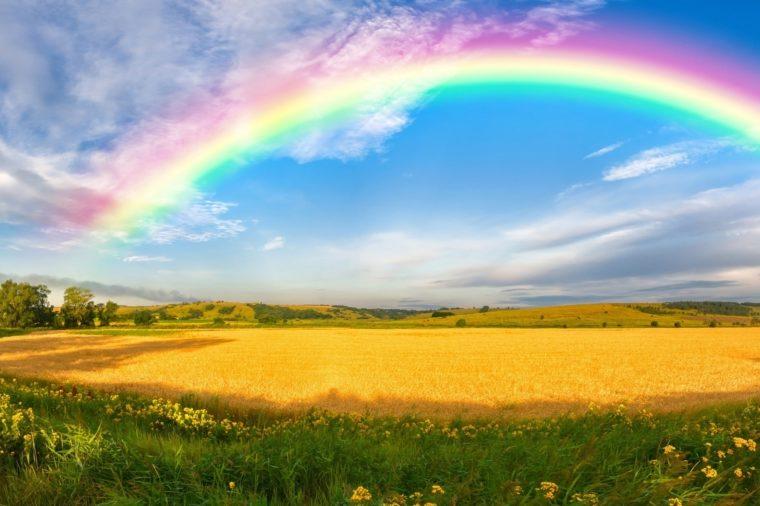 Невероятная радуга в фото