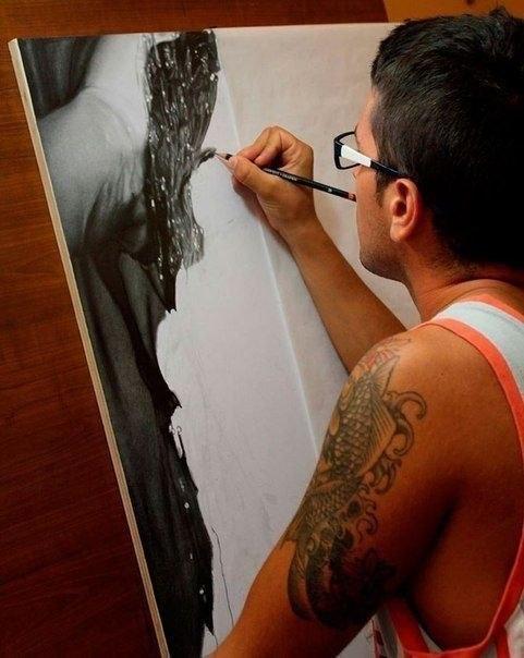 Рисует художник-гиперреалист 5