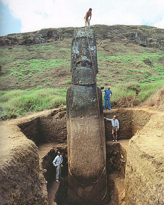 А вы знаете, что скрыто под головами на острове Пасхи? история, остров пасхи