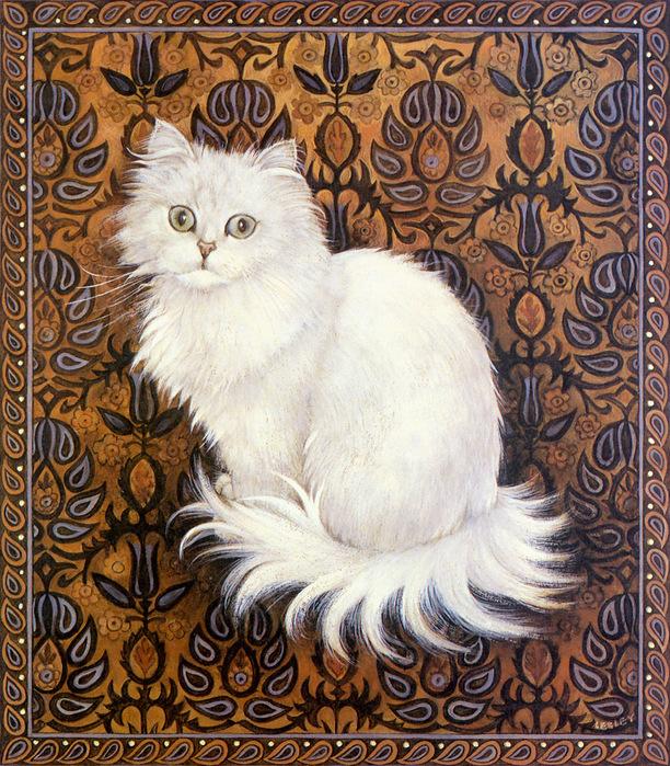 белая кошка (612x700, 331Kb)
