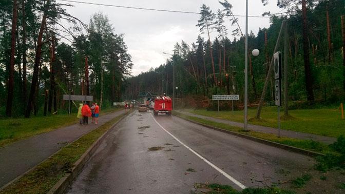 Уничтоженные крыши, сдутые остановки о поломанные линии электропередач: на Алтай обрушился мощный ураган
