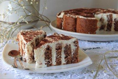Шоколадно-творожный торт Нежность