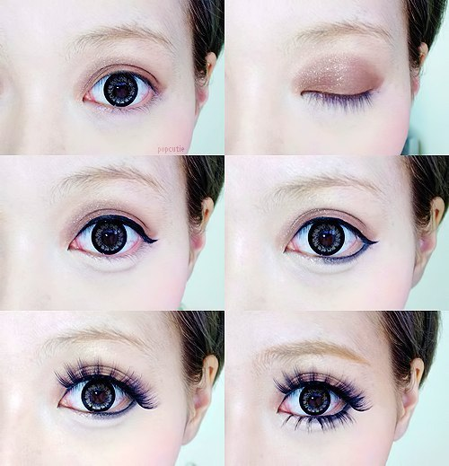 как азиатки делают глаза большими