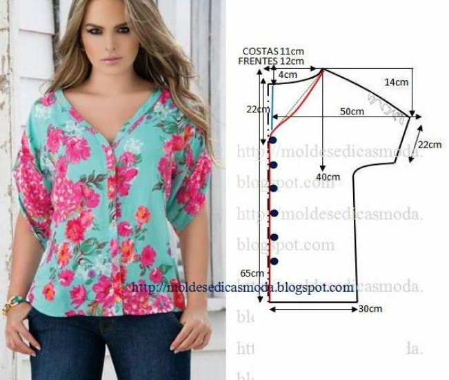 Реально большая подборка модных легких блузок с выкройками, которые можно сшить за пару часов!