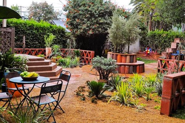 Внутренний дворик дизайн дома 5