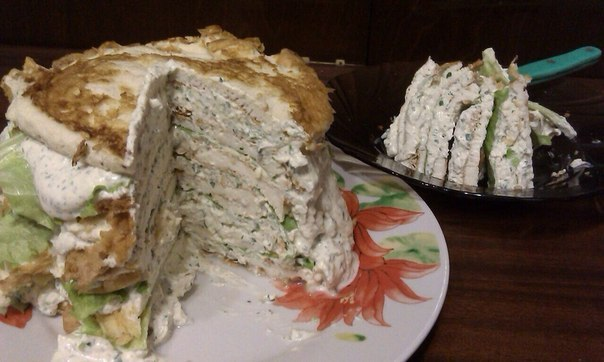 Просто грандиозный белковый торт - супер закуска