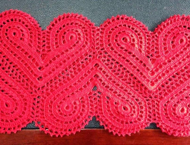вязание крючком узор сердечки самоделкиноинфо своими руками