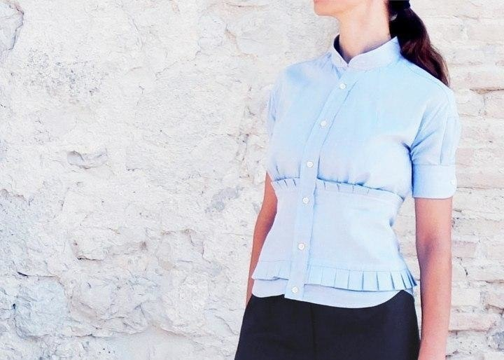 Блузка из рубашки (DIY)