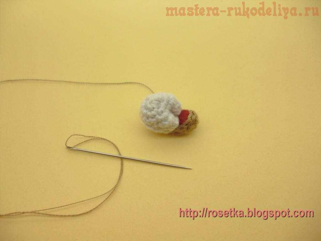 Мастер-класс по вязанию крючком: Мишка с малинкой