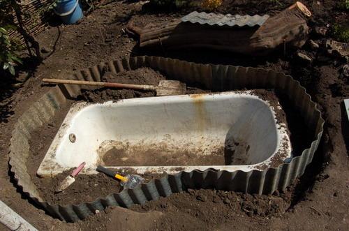 Ванная своими руками из подручных материалов