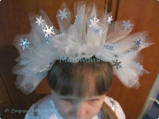 Как сделать корону снежинки девочке