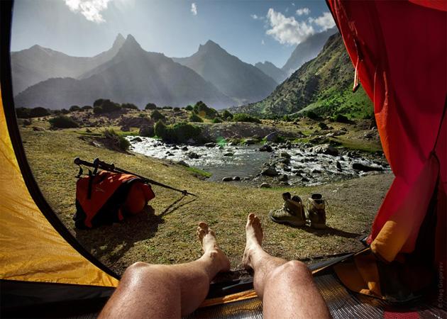 Палатка с видом на мир