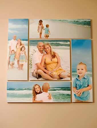 размещение фотографий на стене