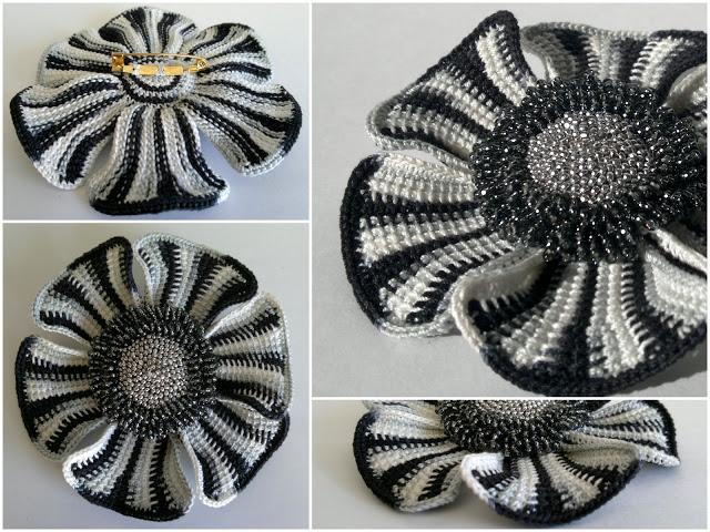 Ксения Николаева и её чудесные цветы крючком (5)