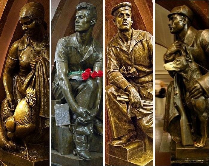 Станция метро «Площадь революции» : невероятные истории реальных людей, послуживших прообразами скульптурных героев
