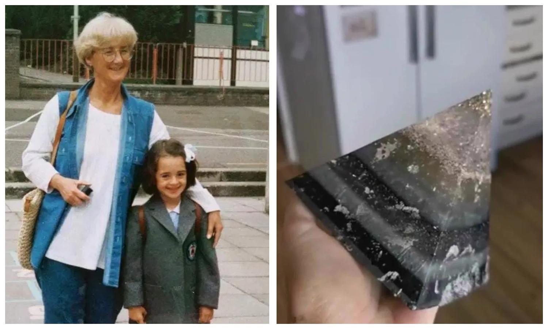 Шотландка сделала блестящую пирамиду изпраха своей бабушки