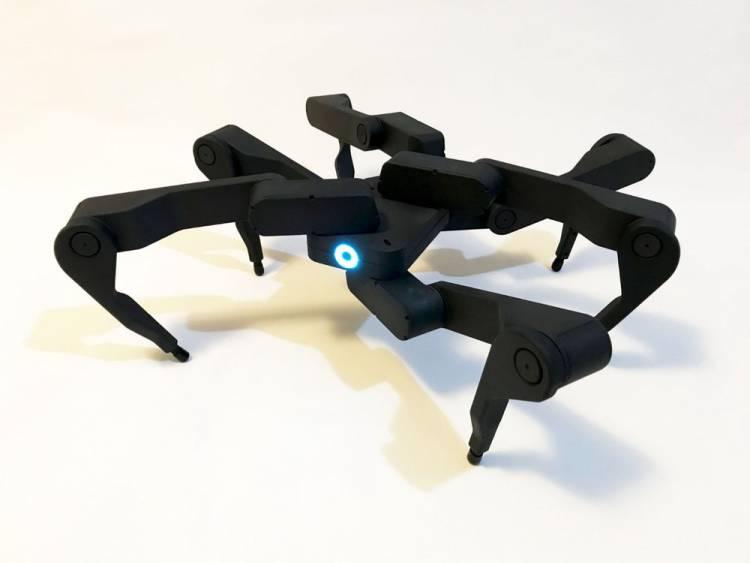 Зажигательная аэробика от робота-паука компании Robugtix
