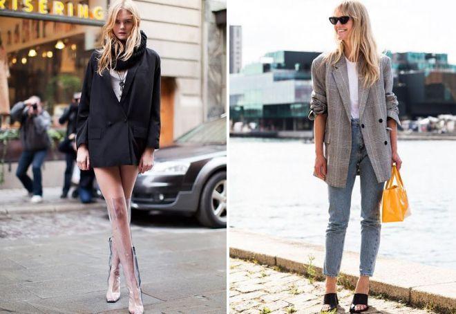 пиджак в стиле оверсайз
