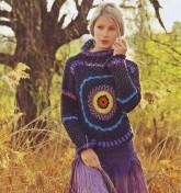 Необычная вязка пуловера